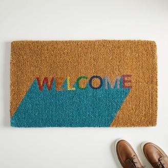 west elm Welcome Block Doormat - Multi