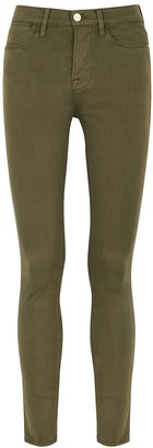 Frame Le High Skinny Army Green Jeans