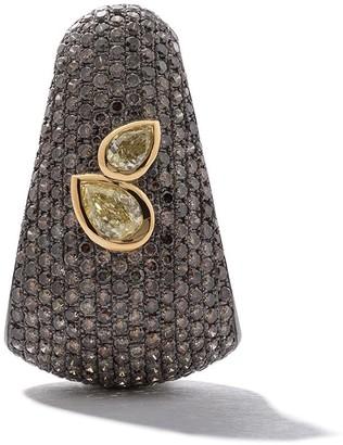 As 29 18kt gold Bombee diamond single earring