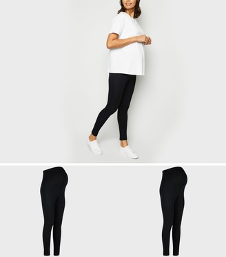 New Look Maternity 2 Pack Lightweight Leggings