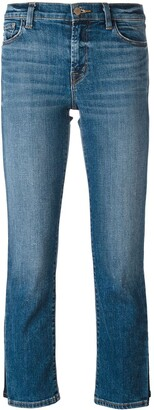 J Brand faded pattern cropped jeans