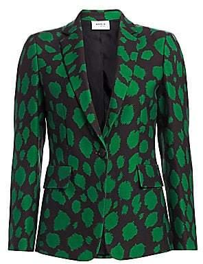 Akris Punto Women's Leo-Print Wool Jersey Blazer