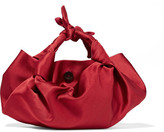 The Row Ascot Knotted Satin Tote - Red