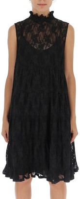 See by Chloe Flared Lace Tiered Dress