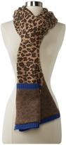 Marc by Marc Jacobs Lenora Leopard Scarf (Chicory Brown Multi) - Accessories