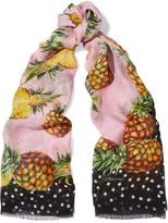 Dolce & Gabbana Printed Silk-gauze Scarf - Pink