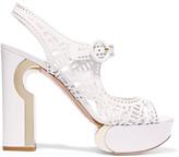 Nicholas Kirkwood Laser-cut leather platform sandals