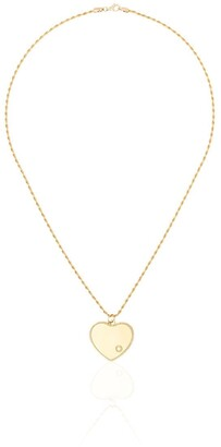 Yvonne Léon 18kt Yellow Gold And Diamond Heart Charm Necklace