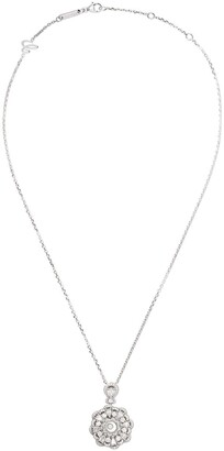 Chopard 18kt white gold Happy Diamonds pendant necklace