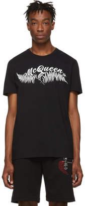 Alexander McQueen Black Fern T-Shirt