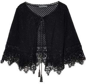 Alberta Ferretti Crocheted Cotton Shrug