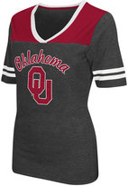 Colosseum Women's Oklahoma Sooners Twist V-neck T-Shirt
