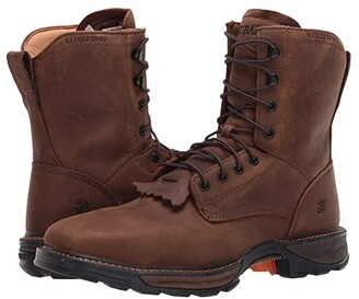Durango Maverick 7 XPtm Waterproof Lacer Steel Toe (Russet Brown) Men's Shoes