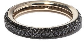 Otiumberg Black-diamond & Recycled 9kt Gold Ring - Black