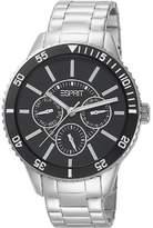 Esprit Men's Quartz Watch Marin Speed Silver Black ES105082004 with Metal Strap