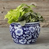 Williams-Sonoma Williams Sonoma Blue & White Ceramic Planter, Medium