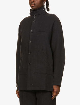 Nomad Goba Single-breasted hemp jacket