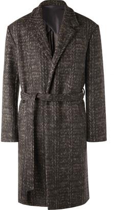 Deveaux Double-faced Herringbone Virgin Wool Coat - Gray