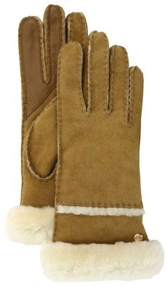 UGG SEAMED TECH GLOVE - CHESTNUT, SMALL