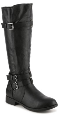 Journee Collection Bite Wide Calf Riding Boot