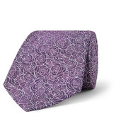Turnbull & Asser - 8cm Floral-embroidered Silk-jacquard Tie
