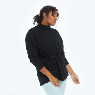 Summersalt The Softest French Terry Cinched Waist Pullover - Sea Urchin