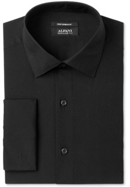 Alfani AlfaTech by Men's Solid French Cuff Slim-Fit Dress Shirt, Created for Macy's