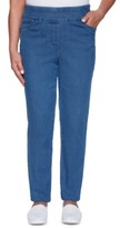Alfred Dunner Pearls of Wisdom Stretch Denim Pull-On Jeans