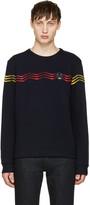 Fendi Navy Zig Zag Pullover
