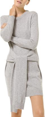 Michael Kors Collection Cashmere Tie-Waist Dress