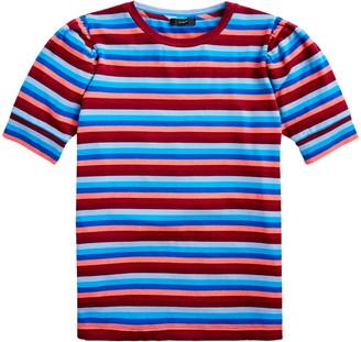 J.Crew Super Cozy Puff Sleeve Stripe Top