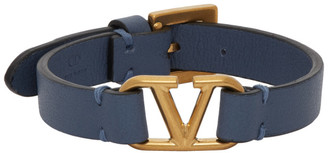 Valentino Blue Garavani Leather Bracelet