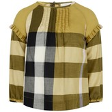 Burberry BurberryGirls Yellow Check Blouse