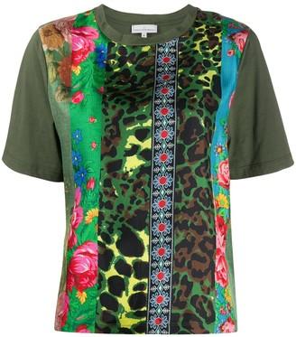Pierre Louis Mascia patchwork mixed-print T-shirt