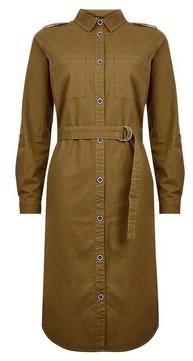 Dorothy Perkins Womens Only Khaki Utility Shirt Dress, Khaki