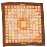 Hermes Feux de L'Hiver Silk Pocket Square