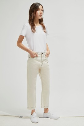 French Connection Iris Seeded Cotton Straight Leg Jeans