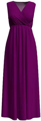 Bella Flore Women's Maxi Dresses BERRY - Berry Surplice Maxi Dress - Women & Plus
