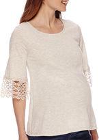 Asstd National Brand Maternity Crochet Cuff High Top-Plus