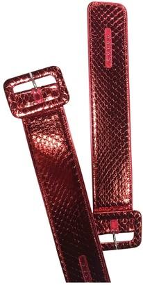 ATTICO Red Leather Bracelets