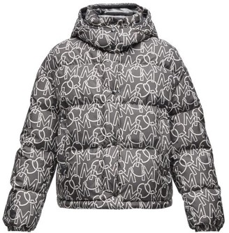 Moncler Daos Logo-print Quilted Down Jacket - Black White