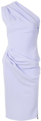 Maticevski One Shoulder Draped Detail Dress
