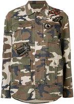 Cinq A Sept - camouflage print jacket - women - Cotton - XS