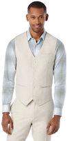 Perry Ellis Slim Fit Perforated Linen Suit Vest