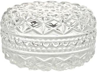 One Kings Lane Vintage Diamond Quilt Glass Box - Design Line