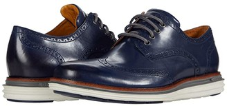 Cole Haan Original Grand Wing Ox Luxury (Marine Blue Leather/Quiet Shade/Glacier Gray) Men's Shoes