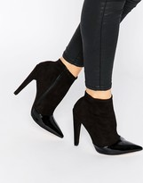 Little Mistress Bogart Toecap Pull On Heeled Ankle Boots