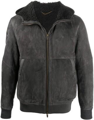 Ajmone Shearling-Lined Suede Jacket