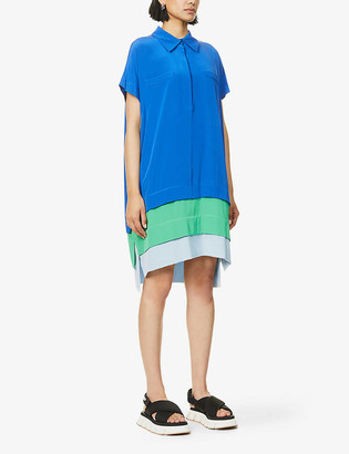 Diane von Furstenberg Hatsu colour-block silk midi dress
