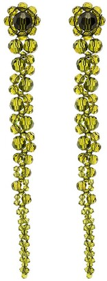 Simone Rocha Green Drip beaded earrings